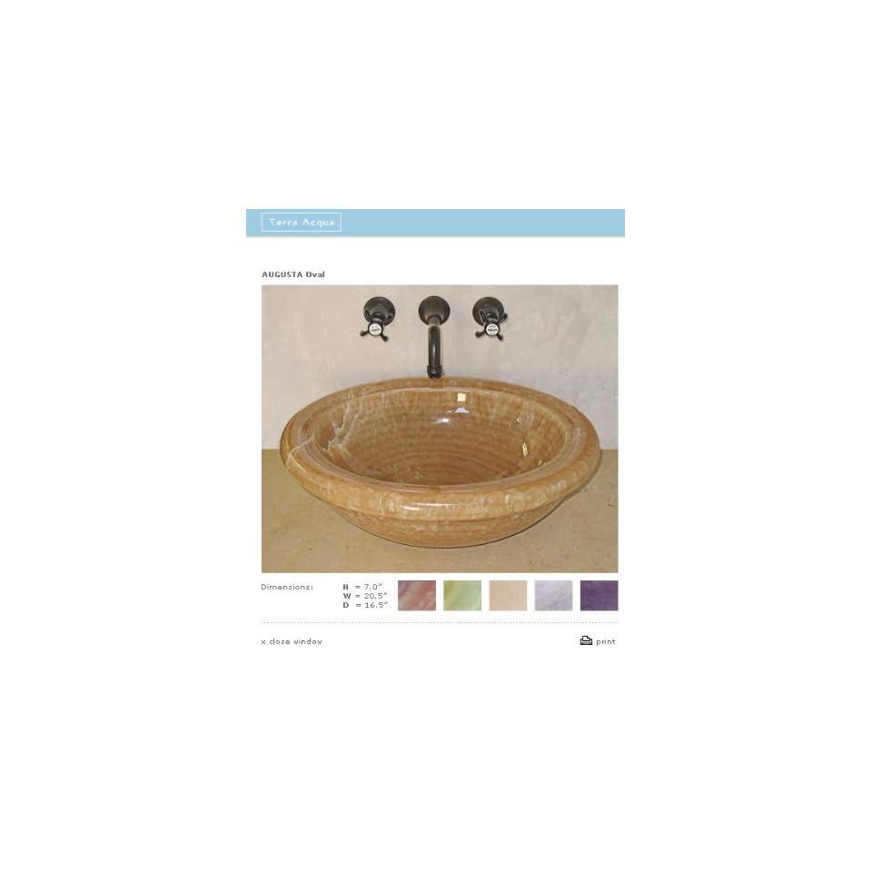 Terra Acqua Toilets Bidets AO Classic Stone Oval Lavatory Vessel Black Pearl Honed
