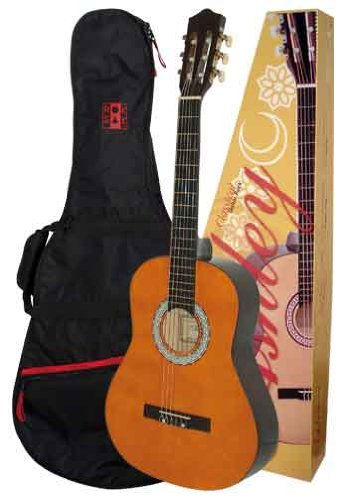 ashley-classical-concert-guitar-with-case-natural-colour-set-3-4-size-for-ages-approx-10-14-years