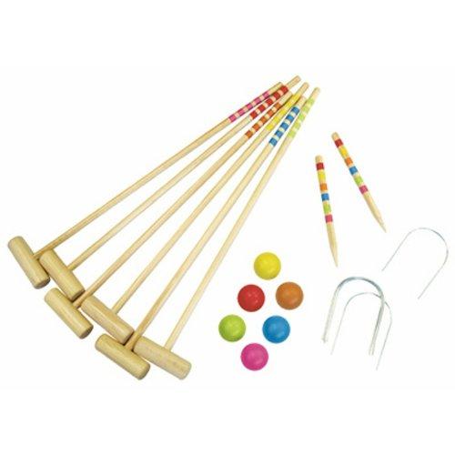 EGT Toys et Garden - 431038 - Jeu de Plein Air - Croquet 6 Joueurs en Sac
