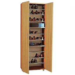 Armadio scarpiera mobile in rovere in legno per interno - Mobile scarpiera ikea ...