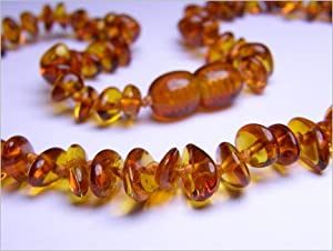 Baltic Amber Necklace - Cognac Chips
