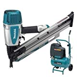MAKITA AN943 Air Framing Nailer Plus AC1300 Air Compressor - 110V