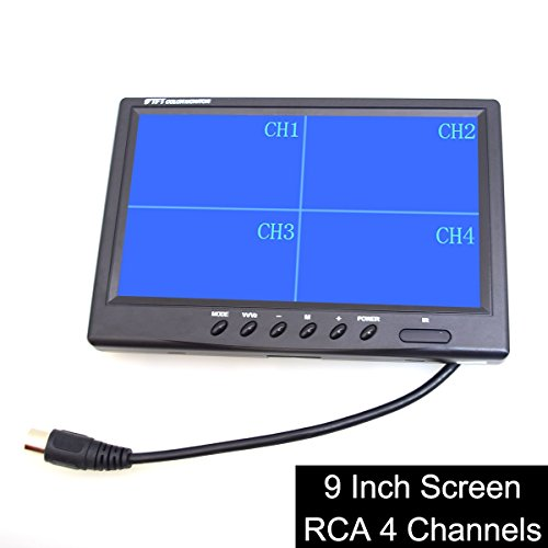 "Cheapest Price! E-KYLIN 9"" TFT LCD Quad Split Monitor for Auto Truck CCTV Surveillance, Remote ..."