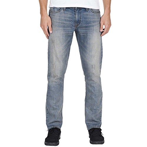 Jeans Volcom Vorta Heavy Worn Faded (34 Vita X 32 = Eu 48 , Blu Scuro)