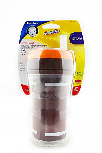 NUK Ultimate Insulated Straw Cup Colors Vary (Gerber Straw Cup compare prices)