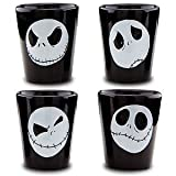 Disney Parks Nightmare Before Christmas Jack Skellington 4 pc. Shot Glasses Set - Disney Parks Exclusive & Limited Availability