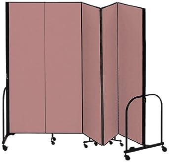Screenflex cfsl685 dm commercial portable room divider 5 for Industrial room dividers
