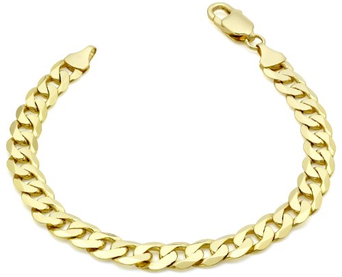 Carissima Gold Unisex 9 ct Yellow Gold Curb Bracelet of 20 cm/8 inch