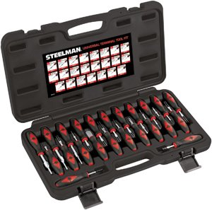 Steelman 95839 Universal Battery Terminal Tool Kit, 23 Piece