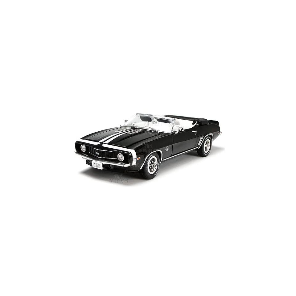 Phoenix Unique Replicas   Chevy Camaro SS396 Convertible (1969, 124, Black) Toys & Games