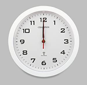 Bold 10 inch 250mm MSF Signal Radio Controlled Wall Clock (White)