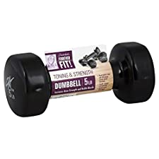 Forever Fit Dumbbell, Toning & Strength, 5 lb, 1 dumbbell