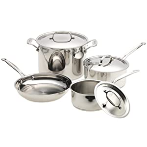 cuisinart 77 7 chef 39 s classic stainless 7 pc cookware set 77 off the shopper 39 s apprentice. Black Bedroom Furniture Sets. Home Design Ideas