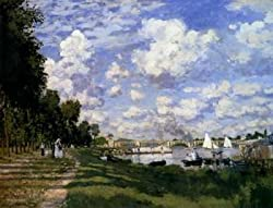 12X16 inch Claude Monet Canvas Art Repro The Marina At Argenteuil