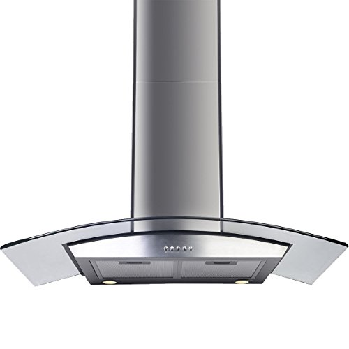 Gracelvoe 36 inch Kitchen Island Vented/ Ductless Stainless Steel Range Hood or Stove Vent with LED Lights (Kitchen Stove Range Hood compare prices)