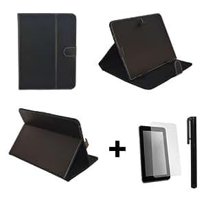 """Noir PU cuir Étui-support housse en pour Storex eZee'Tab805 8"""" 8 pouce inch tablette PC + Protège-écran + Stylet"""