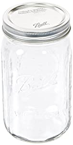 Jarden 52505 Wide Mouth Ball Jar, 32-Ounce, Case of 12