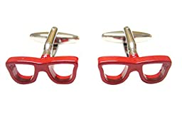 Red Glasses Cufflinks