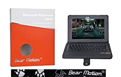 Bear Motion ® Premium Folio Case with Detachable Bluetooth Keyboard for Kindle Fire HD 8.9 Inch Tablet - Black