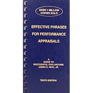 Phrases for performance appraisals book employee evaluations