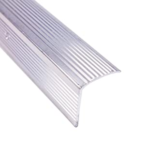 M-D Building Products 73262 Tall - Fluted 1-Inch by 1-3/4-Inch by 36-Inch Stair Edging, Silver