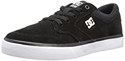 DC Nyjah Vulcanised Skate Shoe (Little Kid/Big Kid), Black/White, 13.5 M US Little Kid
