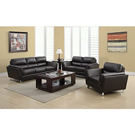 Monarch Specialties Wayland Leather Loveseat