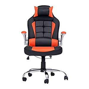 Life Carver Luxury High Quality Swivel Office Chair Adjustable Height Ergonomic with PU Leather by Life Carver
