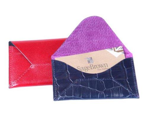 Sage Brown Genuine Leather Card Envelope