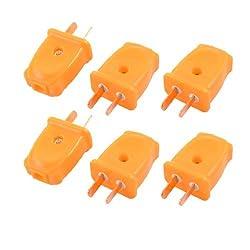 6 Pcs US AU 2 Pins Rotation Plug AC 250V 10A Power Adapter Connector