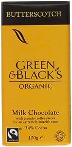 Green and Black's Organic Butterscotch Milk Chocolate Bar 100 g (Pack of 5)