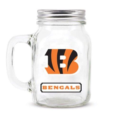 все цены на Cincinnati Bengals Mason Jar Glass With Lid онлайн