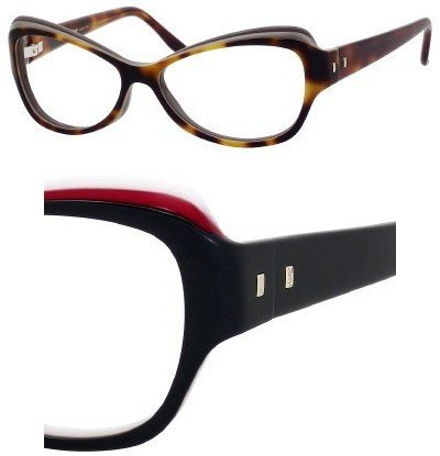 Yves Saint Laurent Eyeglasses Yves Saint Laurent 6369 0LR2 Black Red White