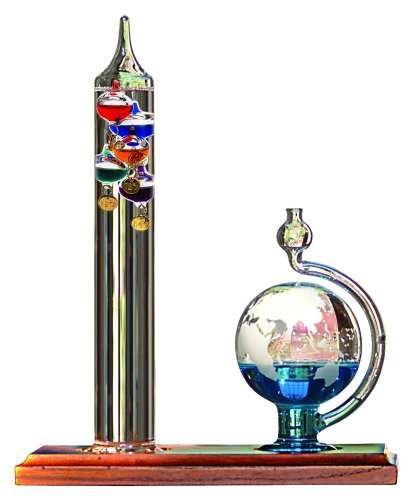 acurite-00795a2-galileo-thermometer-with-glass-globe-barometer
