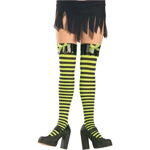 Striped Witch Thigh High Tights Halloween Accessory