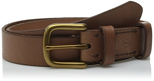 Fossil Fossil Women's Double Leather Keeper Belt Red