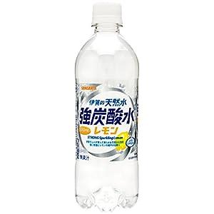 サンガリア 伊賀の天然水 強炭酸水レモン 500ml×24本