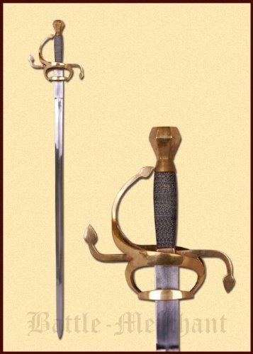 Rapier Replik 17. Jahrhundert Mittelalter Dekoschwert 112 cm