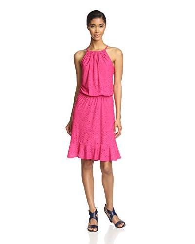 London Times Women's Blouson Halter Dress