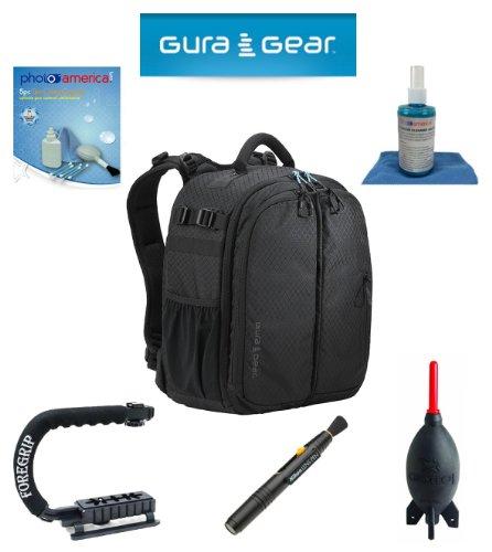Gura Gear Bataflae 18L Backpack (Black) For Nikon D800, D600, D7000, D7100, D300, D200, D100, D90, D5000, D5100, D3100, D3200 + Foregrip + Nikon Lens Pen Cleaning System + Giotto'S Air Blower + Cleaning Kit + Lcd Screen Protectors + Olympus Waterproof Bin