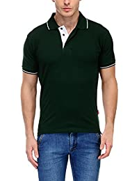 Scott Men's Premium Cotton Polo T-shirt - Bottle Green - B01F0XE6YC