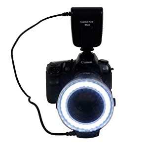 Kaavie/Mcoplus - Macro Ring Flash LED (flash anneau) pour Canon, Nikon, Olympus, Pentax caméras (La lumière de soutien continu et flash)