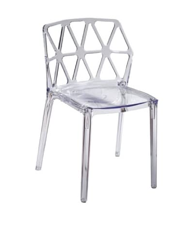 Fine Mod Zig Zag Dining Chair, Clear