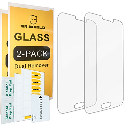 2-PACK-Mr-Shield-For-Samsung-Galaxy-S5-Tempered-Glass-Screen-Protector-with-Lifetime-Replacement-Warranty