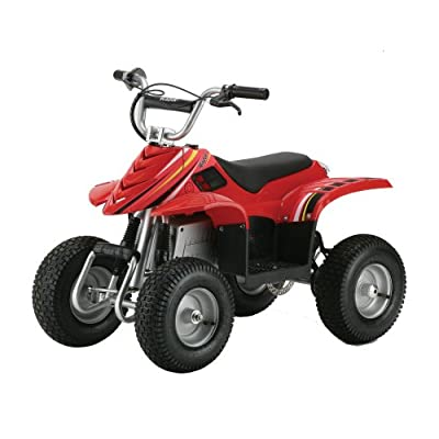 Razor Dirt Quad Electric Four Wheeled Off Road Vehicle Red