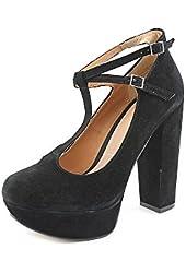 Shellys London Ylana Womens Suede Platforms Heels Shoes