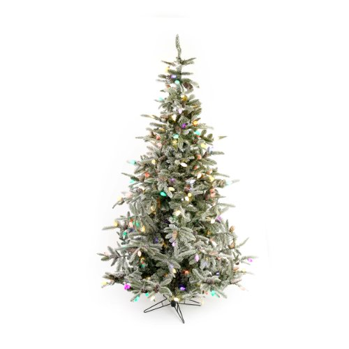 Sterling Inc. 7.5' Frosted With Snow Clumps Led Christmas Tree