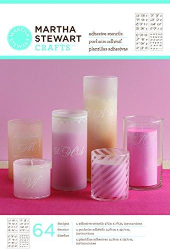 Martha stewart crafts crafts glass adhesive stencils for Martha stewart glass paint instructions