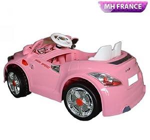 voiture electrique pour enfants 3 6 ans batterie 6v pour fille rose neuf 53 jeux. Black Bedroom Furniture Sets. Home Design Ideas