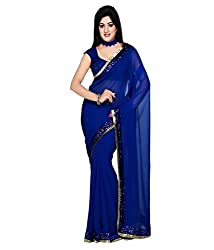 Sheesha Women's Georgette Jhalar Saree